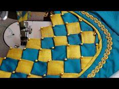 paithani blouse design || blouse designs - YouTube Latest Blouse Neck Designs, Dress Neck Designs, Fancy Blouse Designs, Sleeve Designs, Patch Work Blouse Designs, Cutwork Blouse Designs, Diy Blouse, Saree Blouse, Design Youtube