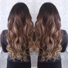 balayage and blonde clip in hair extensions
