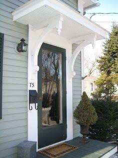 23 Ideas Front Door Awning Ideas Curb Appeal Porticos For 2019 Front Door Overhang, Front Door Porch, Porch Roof, House Front, Front Porches, Awning Patio, Front Door Trims, Front Door Canopy, Windows