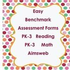 Teacher made reproducible forms for pre-k through third grade reading and math for AIMSweb users.  These forms help parents and teachers to see at ...