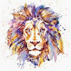 Colorful Lion Digital Art - Lion Head by Marian Voicu