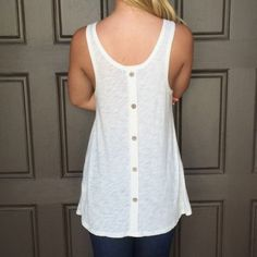 Selling this Button back tank in my Poshmark closet! My username is: torialmos. #shopmycloset #poshmark #fashion #shopping #style #forsale #Free People #Tops