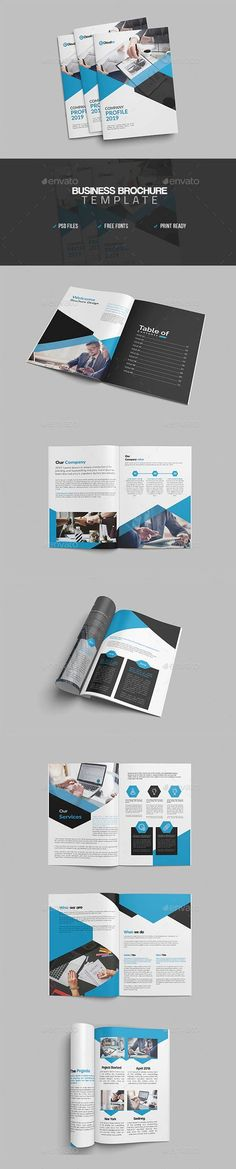 Corporate brochure template with a modern design and minimal colors. business brochure templates you can use to create your own brochures Corporate Brochure Design, Creative Brochure, Business Brochure, Mo Design, Creative Design, Graphic Design, Brochure Examples, Online Entrepreneur, Showcase Design