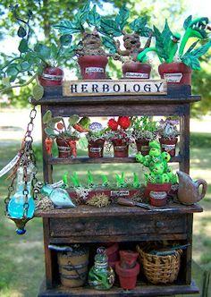 19th Day Miniatures Works in Progress - Harry Potter Herbology Cabinet