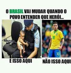 Brasil nosso Spanish Jokes, Little Memes, Strong Women Quotes, Make Sense, Woman Quotes, Funny, Geek Stuff, Teen, Lol