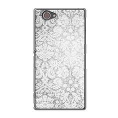 Sony Xperia Z1 Compact Vintage Pattern Black And White Case