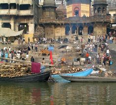 Funeral Pyre on the Ganges, Varanassi, India