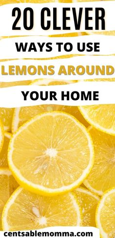 Think that lemons are just for lemonade or flavoring water? Think again! Check out these 20 clever hacks to use lemons around your home - from cleaning to hair care to skin care and more Spring Cleaning, Lemonade, Clever, Hair Care, Hacks, Water, Home, Gripe Water, House