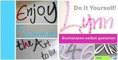 Wanddeko zum Selbstverwirklichen  von PAULSBECK Buchstaben, Dekoration & Geschenke auf DaWanda.com
