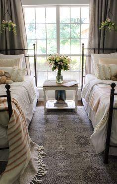 CottonStem.com girls room farmhouse iron bed