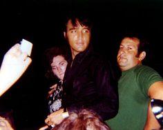 Elvis candid with Joe Esposito ~ 1969