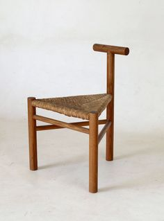 Wim Den Boon rush seated side chair 1950s