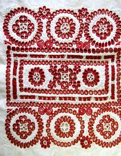 Some lovely examples of pinhole embroidery from Western Slovakia. I believe it is called dierková výšivka in Slovak. Folk Embroidery, Embroidery Needles, Learn Embroidery, Floral Embroidery, Embroidery Patterns, Butterfly Embroidery, Folk Fashion, Textile Fabrics, Needle And Thread