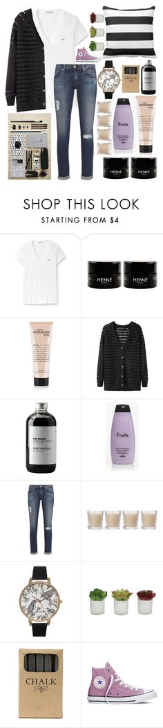 """""""Day 7: Favourite Books!"""" by xo-free-dreaming-spirit-xo ❤ liked on Polyvore featuring Lacoste, rag & bone, Sort of Coal, AG Adriano Goldschmied, Shabby Chic, Olivia Burton, Threshold, Jayson Home and Converse"""