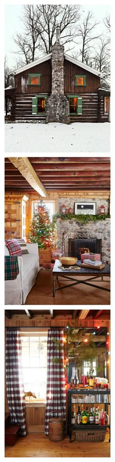 A decade ago, Patrick McGuire inherited a one-bedroom cabin located in Wisconsin. After 10 years of TLC, details like the knotty pine paneling and working stone fireplace give the space a brand of rustic that's more refined. Patrick primarily uses the house as a hunting lodge, but every December, he happily opens up his little cottage, which has a spacious sleeping loft, to his extended family for a Christmas celebration rooted in old-fashioned charm.