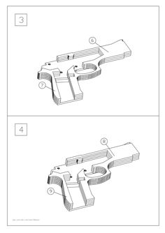 M9 rubber band gun Wood Projects, Projects To Try, Rubber Band Gun, Desert Eagle, Homemade Weapons, 3d Craft, Woodworking Toys, Scroll Saw Patterns, Cardboard Crafts