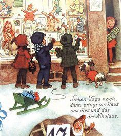 Frohe Zeit Reizender Adventskalender  Fritz Baumgarten