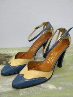 SALE vintage 1950s 50s shoes // blue baby blue by seaofvintage, $90.00