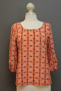 Abstract Pattern Zipper Back Top – The Dressing Vroom