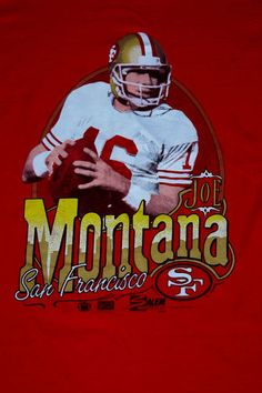 The reason I started loving my Niners to begin with! I SAW JOE THROW!!!#Niners #49ers #SF #Officials Vintage
