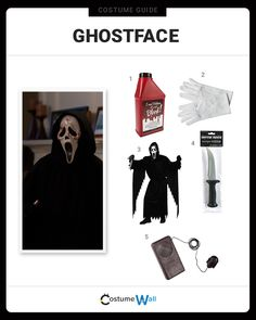The best Ghostface costume guide online. Capture the look of this twisted killer's disguise from Wes Craven's Scream series of films.