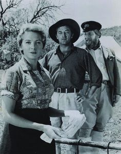 """The Sundowners: Deborah Kerr, Robert Mitchum, Peter Ustinov - this was the movie playing when I had my first """"movie birthday party""""!"""