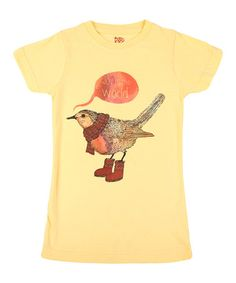 I want to put a bird on Anastasia!  Sun Joy to the World Tee by Threadless