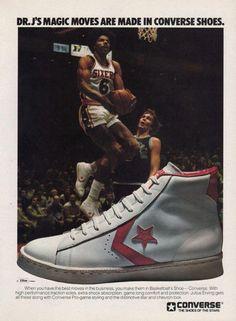 5295c30b580d Vintage Ad  Dr. J For Converse Basketball 1977. Dos años ahorrando para  comprarlos