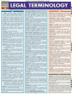 Legal Terminology (Quickstudy: Law) by Inc. BarCharts…