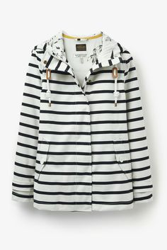 Joules Striped Waterproof Rain Jacket