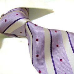 0a50acbd2d2e1 Towergem 100% Silk Tie For men Necktie Purple « Clothing Impulse Tie Knot  Styles