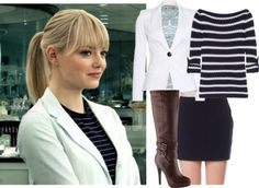 """""""Emma Stone as Gwen Stacy"""" by hannahintheuk ❤ liked on Polyvore"""
