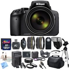 Nikon COOLPIX P900 Digital Camera with 83x Optical Zoom and Built-In Wi-Fi (Black) & CS Premium Package