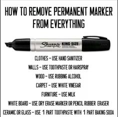 How to get permanent marker out of everything!