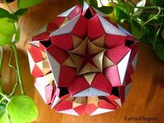 Origami ♥ Kaleidodama ♥ Kusudama - YouTube