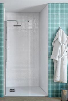 Mampara frontal - plato de ducha baño secundario