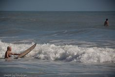 heading out to catch a wave--taken @ 2nd Light, Satellite Beach, FL