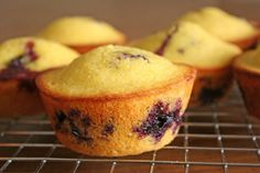 Blueberry Cornbread Muffins | 21 Healthier Snacks Your Kids Will Actually Want To Eat