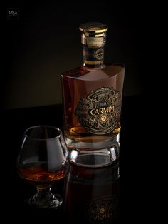 Carmim A Brandy That Holds A True Treasure From Alentejo - World Brand Design Society Whisky, Whiskey Label, Cigars And Whiskey, Cool Packaging, Coffee Packaging, Bottle Packaging, Wine Design, Bottle Design, Alcohol Bottles