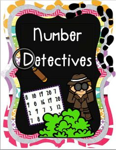 Free Preview....being a number detective...seek and find for number recognition