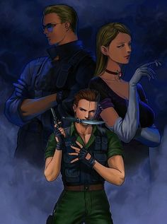 Resident evil Code veronica wesker, alexia and chris