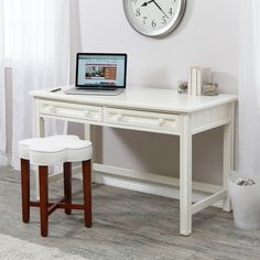 Have to have it. Casey Writing Desk - White - $299.99 @hayneedle.com Buero, Office Desk, Home Office, Desk, Home Offices, Desktop, Office Home, Office Desks, Office Table