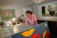 Karen Tusinski at work
