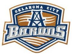 Oklahoma City Barons logo machine embroidery design. Machine embroidery design. www.embroideres.com
