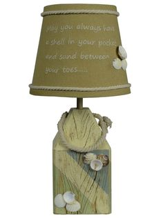 """Shell Buoy 14"""" H Table Lamp with Empire Shade"""
