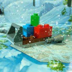 Día 23: trineo espacial con regalos  #starwars #sled #trineo #snow #nieve #Lego #instalego #legogram #afol #adventcalendar #calendarioadviento
