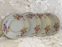 A personal favorite from my Etsy shop https://www.etsy.com/listing/523699427/vintage-china-bread-dessert-plate-h-c