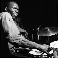 """Elvin Jones contributed to scores of great Blue Note sessions before signing with the label in 1968. This shot is from Wayne Shorter's """"Ju Ju"""" album, recorded on August 3, 1964."""