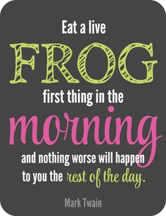 Sometimes the best way to start something is to start with the hardest task so everything afterwards is easy. This can be a great technique to use when decluttering too. Eat that frog (declutter your worst space) and all spaces afterwards will seem easier to tackle.