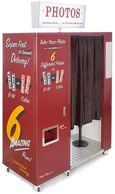 "Saratoga Photobooth Co. has eight vintage-style ""Model 12"" photobooths for event rentals."